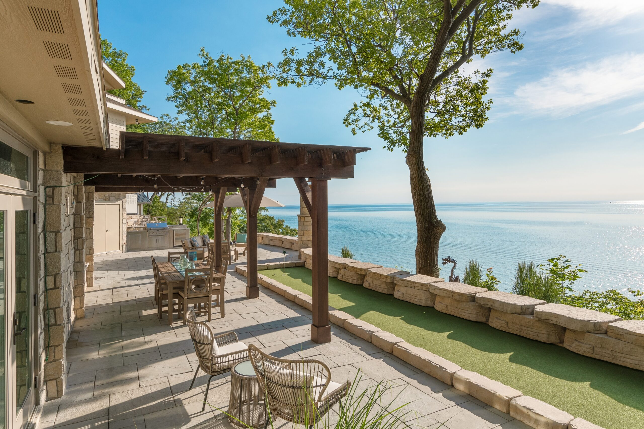 Outdoor Custom Home Development Project on Lake Michigan